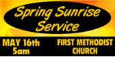 sunrise service banner sign template