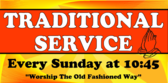 alive and well church banner sign template