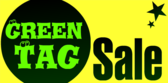 green tag sale banner sign template