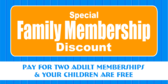family membership discount banner sign template