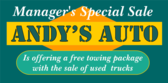 manager's special sale banner sign template