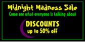 midnight madness sale banner sign template