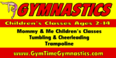 gymnastics classes banner sign template