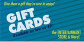 gift cards available banner sign template
