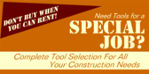 tool selection for construction needs banner sign template