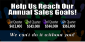 help us reach our annual sales goals banner sign template
