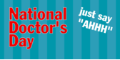 national doctor's day banner sign template