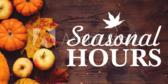 Seasonal Spring Summer or Winter Hour Signs