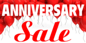 anniversary sale banner sign template