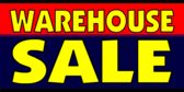 warehouse sale banner sign template