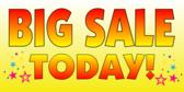 huge sale banner sign template