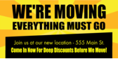 moving sale banner sign template