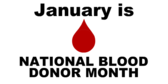 national blood donor month banner sign template