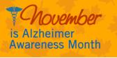 Alzheimer awareness month banner sign template