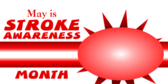 stroke awareness month banner sign template