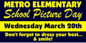 School Picture Announcement Signs