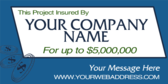 project insured by banner sign template