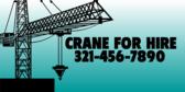 mobile crane service banner sign template