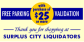 free parking with purchase banner sign template