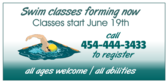 sign up for swimming lessons banner sign template