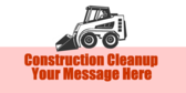 construction cleanup banner sign template