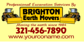 professional excavation services banner sign template