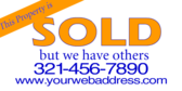 Real Estate Sold Yard Sign Designs