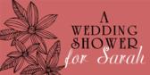 wedding shower banner sign template