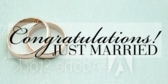 congratulations just married banner sign template