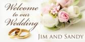 welcome to our wedding banner sign template