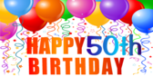50th Birthday Banners