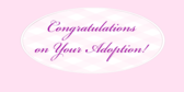 congratulations on your adoption banner sign template