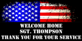 welcome home military signs for banners