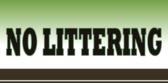 littering not allowed banner sign template