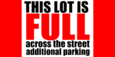 additional parking sign template