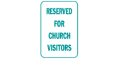 reserved for pastor only sign template