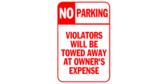 aluminum parking sign template