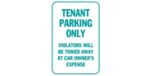 resident parking only sign template