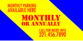 monthly parking available banner sign template