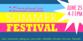 Signage for Summer Festival Banners
