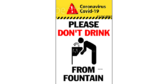 No Drinking From Water Fountain Signs