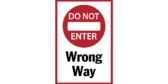 Wrong Way / Do Not Enter Floor Graphics