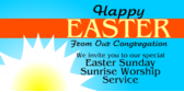 happy Easter banner sign template