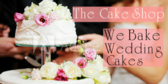 we bake wedding cakes banner sign template