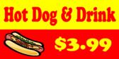 Hot Dog Signs