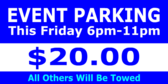 event parking ahead sign template