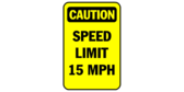 speed limit sign template