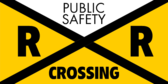 public safety railroad crossing banner sign template