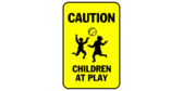 caution children at play sign template