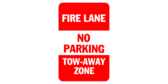 fire lane tow-away zone sign template